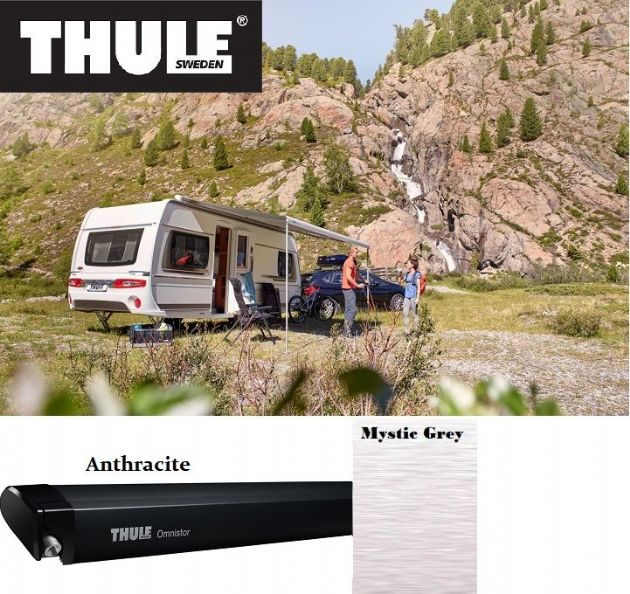 Thule Omnistor 6300 Awning Anthracite for vans, caravans and motorhomes, caravans and motorhomes - Grasshopper Leisure